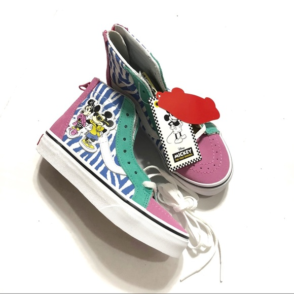 Mickey Mouse 80s Hightop Vans NWT 1a2e68d38